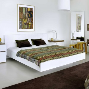 lit t te de lit capitonn e 160 float temahome blanc blanc. Black Bedroom Furniture Sets. Home Design Ideas
