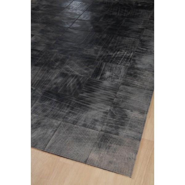 tapis cuir walker gris 200x300 home spirit. Black Bedroom Furniture Sets. Home Design Ideas