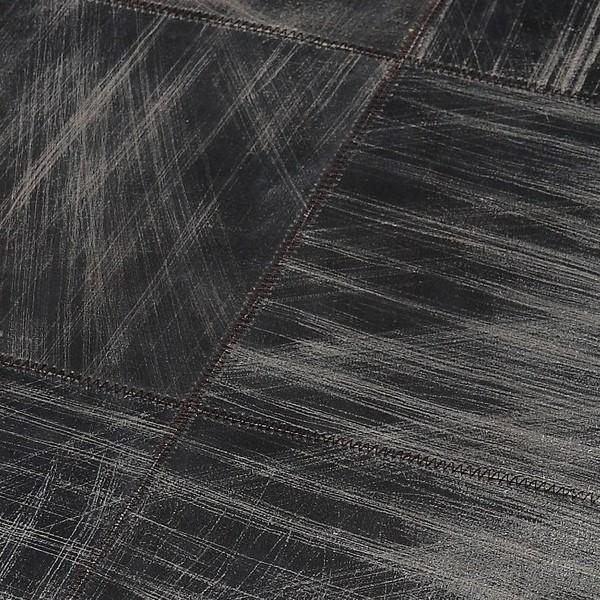 tapis cuir walker gris 200x300 home spirit With tapis peau de vache avec canapé d angle convertible capitonné