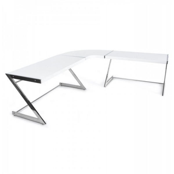 Grand bureau d 39 angle design arena for Bureau d angle blanc