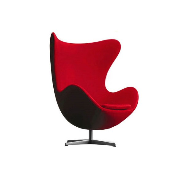 fauteuil design egg chair rouge. Black Bedroom Furniture Sets. Home Design Ideas