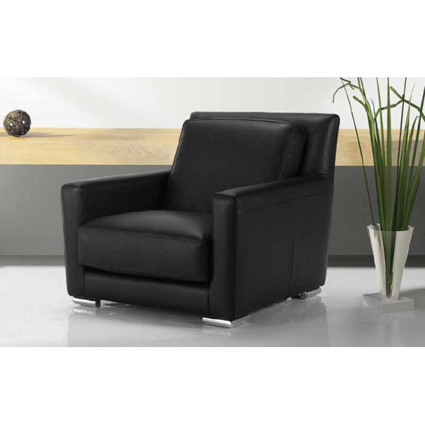 fauteuil design moderne tout cuir martin. Black Bedroom Furniture Sets. Home Design Ideas