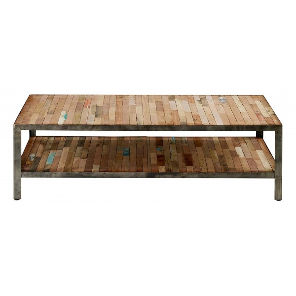 Table basse double plateau industriel mundra for Plateau pour table basse