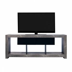 Meuble Tv Design Nara Effet Gris Beton