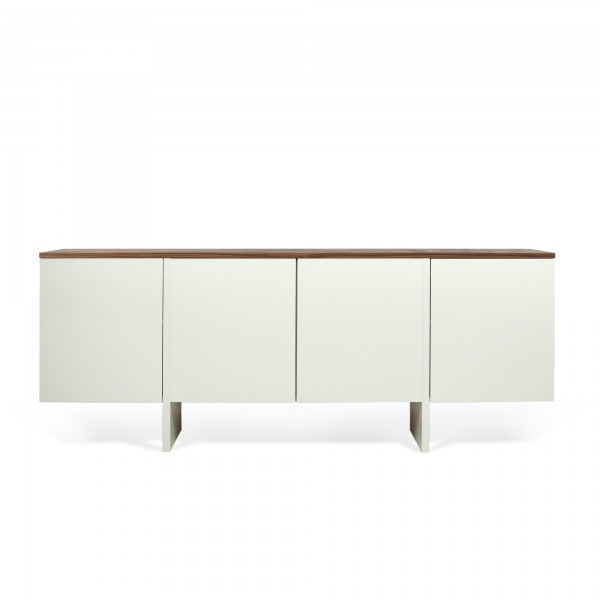Buffet bas design 4 portes edge noyer for Buffet bas design
