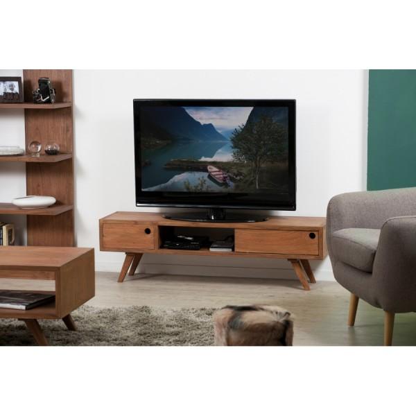 meuble tv 1 porte coulissante makki. Black Bedroom Furniture Sets. Home Design Ideas