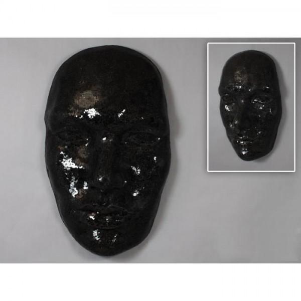 d co murale masque visage noir brillant. Black Bedroom Furniture Sets. Home Design Ideas