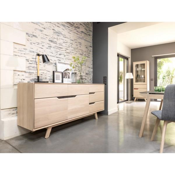 buffet 3 portes cop chene massif et poignees c ramique. Black Bedroom Furniture Sets. Home Design Ideas