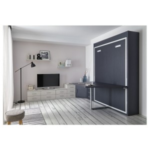 lit escamotable avec table logic. Black Bedroom Furniture Sets. Home Design Ideas
