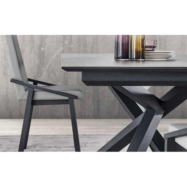 Table de salle manger design plateau c ramique - Table salle a manger plateau ceramique ...
