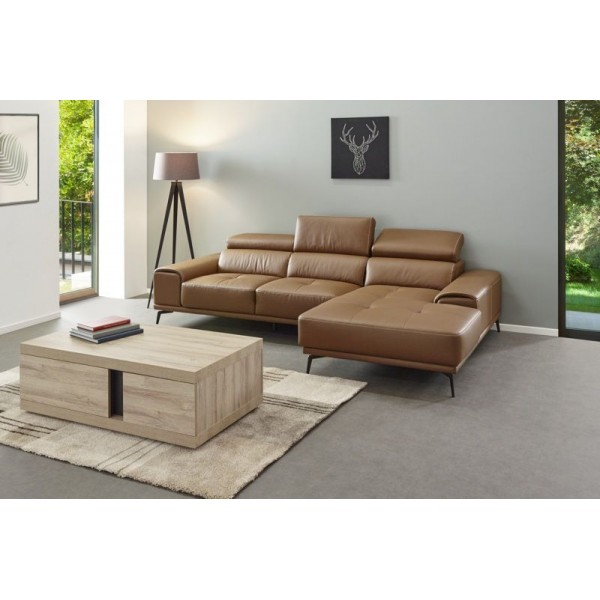 canap angle meridienne hambourg cuir cognac. Black Bedroom Furniture Sets. Home Design Ideas