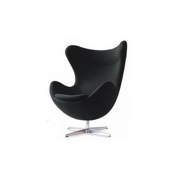fauteuil design egg chair noir. Black Bedroom Furniture Sets. Home Design Ideas