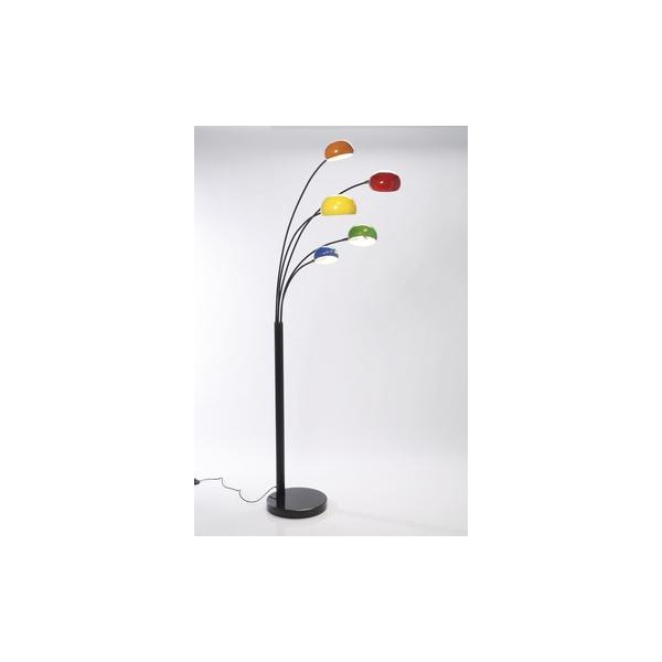 lampadaire 5 branches multicolores. Black Bedroom Furniture Sets. Home Design Ideas